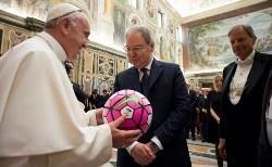 Папа Франциск: щоб «футбол зміг творити позитивне посланням для всього суспільства»