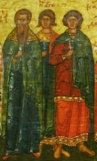 """Результат пошуку зображень за запитом """"Святих мучеників Трофима, Саватія і Доримедонта"""""""
