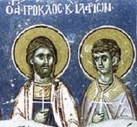 25 липня – Святих мучеників Прокла та Іларія і преподобного ...